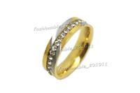 american c - NEW Gift Titanium Ring Men Women s Wedding Stainless Steel C Z Engagement Sz7