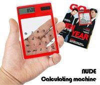 Wholesale DHL Novel LCD Solar Energy Calculator Fashion Portable Transparent Solar Calculator