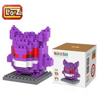 Wholesale Pocket Monster Series Toys Gengar Pikachu etc Building Blocks Small Diamond Blocks Gift For Children LOZ