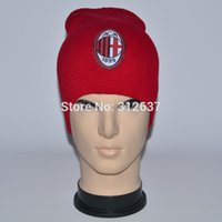 ac knit cap - team can mixed ac milan football Yellow and red hats for men and women knitted hat Italy soccer gifts beanies cap
