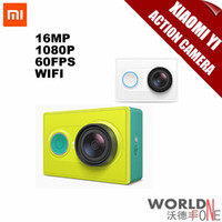 Wholesale IN STOCK Original Xiaomi Yi Action Sport travel Camera Xiaomyi Smart Camera MP X3456 x1080p mAh WIFI Bluetooth