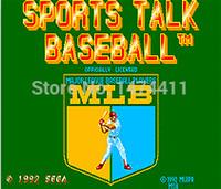 baseball sports cards - Brand New Bit Game Cartridge Classic Game Card for Sega Mega Drive Genesis Sports Talk Baseball