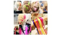Wholesale b66 Europe Street beat Japanese Harajuku punk fluorescence color streaked wig dyeing hair piece can be cut