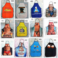 funny novelty aprons - 200pcs Sexy Men Women Apron superhero Apron spiderman avengers Batman Kitchen Cooking Chef Novelty Funny Naked BBQ PartyFunny Person D478