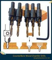 Wholesale Hot Hss Woodworking Ti Countersink Drill Bit Set Wood Countersinks Screw Size A3