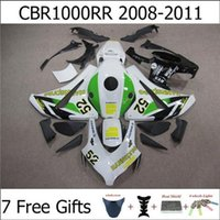 Wholesale White Green CBR1000RR CBR RR CBR RR For Honda Injection Mold Motorbike Fariring Kits Motorcycle Free Gifts