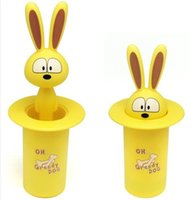 Wholesale SMILE MARKET Best selling Cute Yellow Cartoon Happy Dog Magic Series Automatic Toothpicks Holder