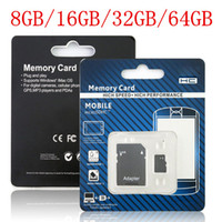 Wholesale Memory Card Micro SD Card with Adapter Packaging GB GB GB GB GB GB Real Capacity class TF Flash SDHC for Smart Phones