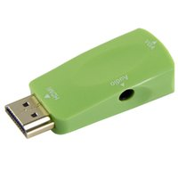 Wholesale Colorful HDMI to VGA Converter Adapter with with FT mm Stereo Cable waitingyou