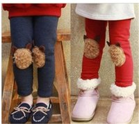 bear protection - Hot Bear Pants Leggings Trouser Baby Pants Cloth Cloth Winter Protection Kids Princess Trouser Clothes Children Clothing Hot Sale