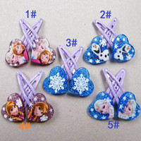 bb heart - Frozen Clips Fashions Baby Girls Elsa Anna Heart Barrettes Hair Clips Kids BB Clip Hairpin Children Christmas Gifts Hair Accessories