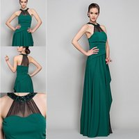 beautiful jersey - 2015 high quality Sheath Column Halter Floor length Jersey and Chiffon Evening Dresses inspired charming beautiful new prom party dresses