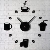 Wholesale Attractive Fashion Acrylic DIY Self Adhesive Interior Wall Creative Decoration Clock Fashion Design Hot NO9