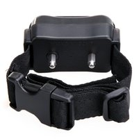 Wholesale NEW Hot Auto Static Shock Anti No Bark Control Collar for Training Dog Stop Bark T0682 SYSR