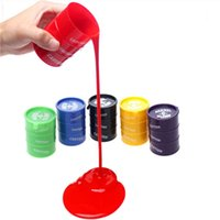 Wholesale Barrel O Slime Paint Oil Trick Prank Joke Gag Colorful Gift Toy Crazy NOT Thinking Putty Novelty Halloween Party Toy