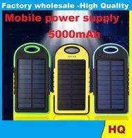 Cheap Free packag Solar batt External Rechargeable battery anker Solar5000 mah is three mobile power supply solar multi-function charging Solar