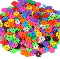 Wholesale Factory direct sale building blocks Snowflake assembled amount produced children s educational toys
