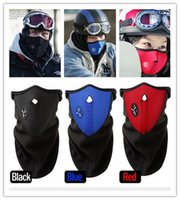 snowboard - Fashion Hot RED BLUE BLACK Neck guard cycling Half Face Mask Winter Veil Windproof For Sport Bike Bicycle Ski Snowboard Outdoor mask