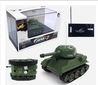 Wholesale Mini Remote Control Tank Remote Control Toy electric lighting wireless remote tank electric model By DHL