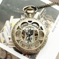 Wholesale HOT Vintage Antique Bronze Mechanical Watch Round Pocket Watches For Unisex Necklace Watch Hand Winding