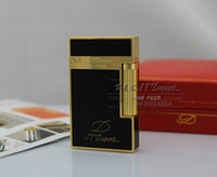 Flame audible stock - Full package mail gift ST Dupont Dupont lighter copper audible words make lighter