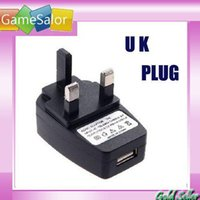 Wholesale NEW UK USB AC Wall CHARGER FOR IPOD MP3 MP4 PDAS