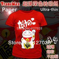 Wholesale A4 Dark Transmax Paper T shirt Transfer Paper Super Soft Ultra Thin Heat Transfer Paper