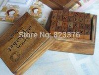 alphabet work - DHL Freeshipping set Handwriting Alphabet stamp set wooden box Decorative DIY funny work uppercase lowercase