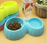 Cheap Pet supplies drinking water bowl automatic watering device drinking dual cat dog bowl free shipping