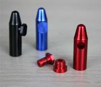 50% de réduction bullet aluminum métal snuff snorter pipe pipe tubes en verre hookah broyeur cadeau machine à rouler vaporisateur de papier boîte à pilules tubes en verre