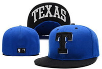 Wholesale MLB Texas Rangers Baseball Cap Embroidered Team logo Fitted Cap Famous Star Hip Hop Sport Fit Hat
