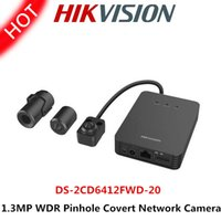 Wholesale hikvision quot Progressive Scan CMOS MP WDR Pinhole Covert Network Camera DS CD6412FWD mm lens with poe Built in Micro SD card