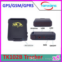 Cheap 5pcs TK102B GPRS GPS Tracker TK102 B Full Accessories Mini Car Vehicle Tracker Mini Global 4 bands ZY-DH-05