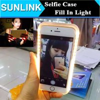 Wholesale LuMee Illuminated Cell Phone Case for iPhone s Plus Fill In LED Light Selfie Back Cover Shiny Protective Shell for iPhone6
