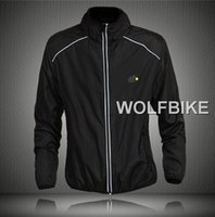 Cheap 2015 WOLFBIKE tour de france cycling jackets soft skin coat windproof jacket riding long sleeve jerseys jackets green black color in stock
