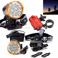 Wholesale 15000LM Waterproof x XM L2 T6 LED Cycling Bicycle Bike Light Headlamp Headlight