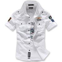 air force dress shirt - M XL men shirt camisa mens shirts Air Force Imported clothing summer style mens dress shirts slim fit army military New