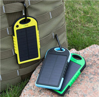 battery power solar - Universal mAh Solar Charger Waterproof Solar Panel Battery Chargers for Smart Phone iphone7 Tablets Camera Mobile Power Bank Dual USB