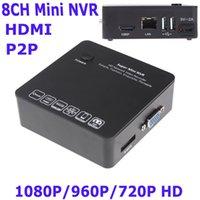Wholesale Black CH Mini NVR IP Camera Recorder Surveillance P P P HD Cloud P2P ONVIF HDMI E SATA HDD Connection USB