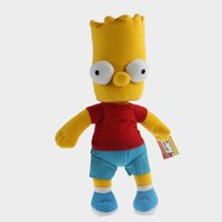 bart plush - Anime Cartoon The Simpson Bart Simpson Soft Plush Stuffed Doll Toy Gift cm
