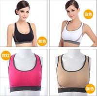Wholesale Sexy Running Clothes For Women Jogging Yoga Sports Bra Seamless Racerback Sport Wear Fitness Clothing Tennis Vest Camisetas NO212