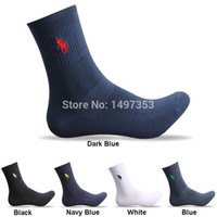 Wholesale 1603 High Quality Brand Polo Men Socks Cotton In Tube Socks Embroidered Casual Business Male Socks Calcetines Hombre pairs