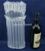 Wholesale ml Wine glass Bottles easy broken Plastic Air Bubble column Protective amp Cushioning Material mail shipping Packaging Bag
