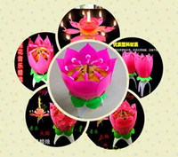 Wholesale Dutch musical birthday cake candles auto flowering lotus smoking creative romantic musical surprises for children