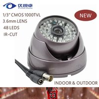 Wholesale New Security Camera quot CMOS TVL IR CUT CCTV Camera Waterproof Night vision Led IR Dome Surveillance Camera DVR AC20
