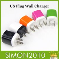 Wholesale Universal Mini USB Home charger AC direct Power Adapter Travel Chargers US Plug home Charger Adaptor Charging device for cellphone