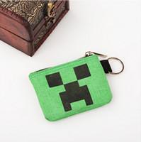 pocket pc - Minecraft Wallets Kids Coin Purses Children Canvas Cartoon Bag Green Colors l