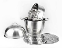 Wholesale High efficiency multi layer steamer Stainless steel steamer pot Stock pot Sauce Pot