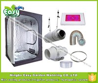 Wholesale Complete indoor grow tent kits Size X120X200CM with W LED grow light and ventilation equipment