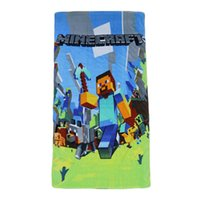 beach fabric - 140 cm Minecraft JJ creeper children beach towel kids bath towel cotton towels Carpets fleece blankets Fabrics jj blame